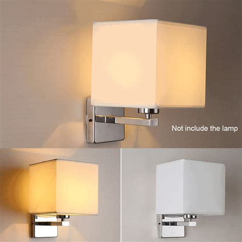 led cloth wall l sconce light for hotel reading bedroom