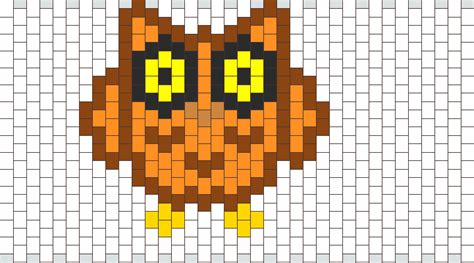 pony bead owl pattern owl no1 pony bead patterns animals kandi patterns for