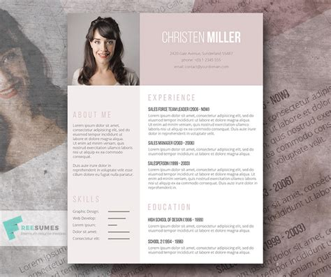 Free Resume Template for the Ladies   The Vintage Rose