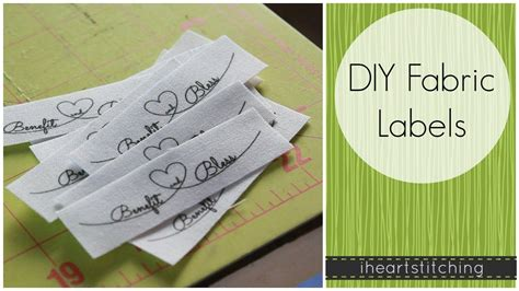 How To Price Handmade Clothing - diy fabric labels