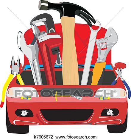 Automotive Wall Murals clipart of car fix k7605672 search clip art