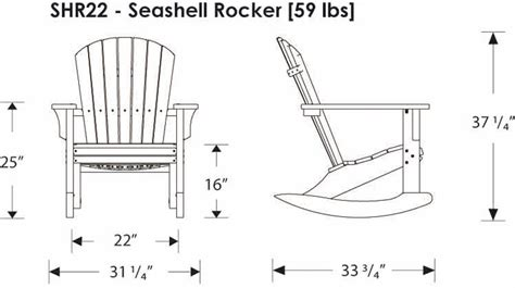 polywoodfurniture gt polywood 174 shr22 seashell rocking chair