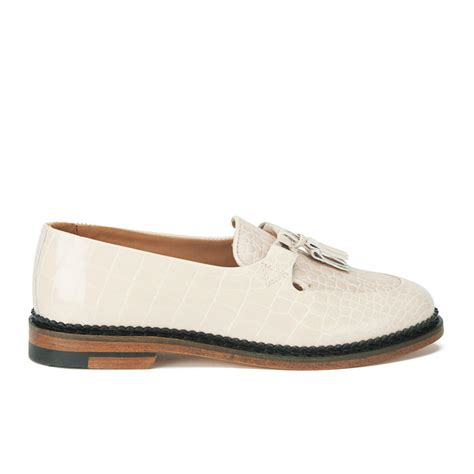 white patent leather loafers purified s polly 2 patent leather tassle loafers
