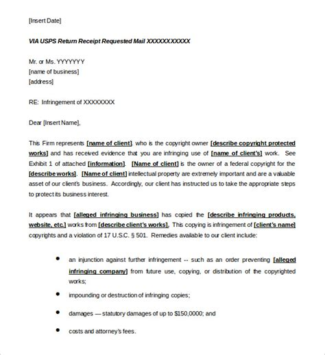 cease and desist letter template defamation and desist letter templates free sle exle format
