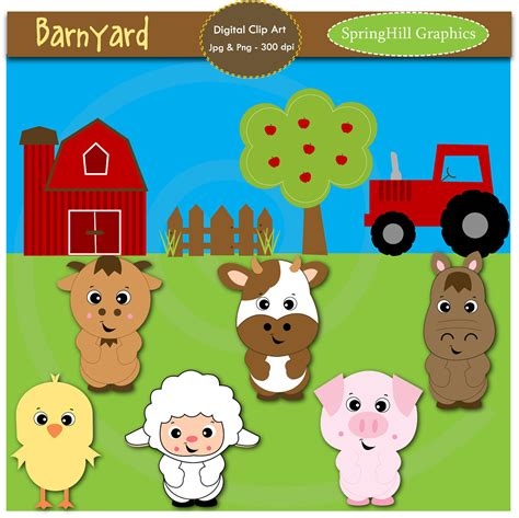 Barn Animals Clipart unavailable listing on etsy