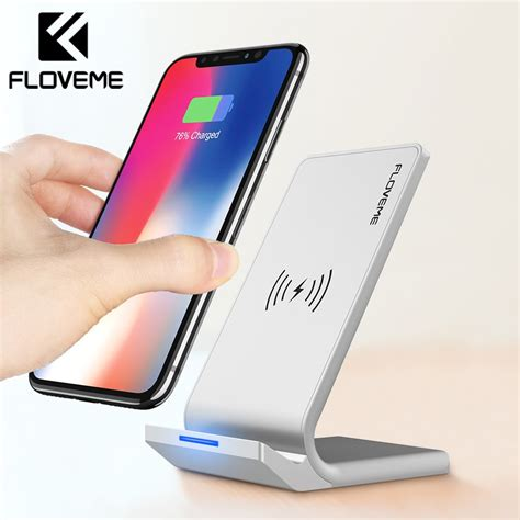 floveme universal qi fast wireless charger for iphone x xs max xr charger usb 10w power charging