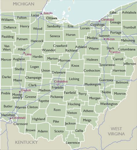 ohio zip code map county zip code maps of ohio