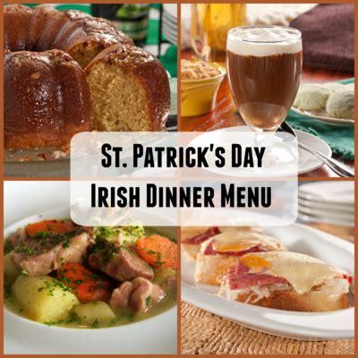 irish dinner menu for st patrick s day mrfood com