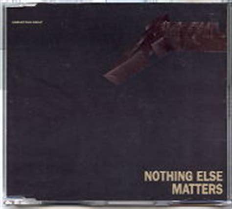 no else matters metallica cd single at matt s cd singles