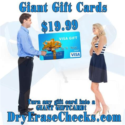 Giants Gift Cards - make a huge statement with a giant gift card dryerasechecks com