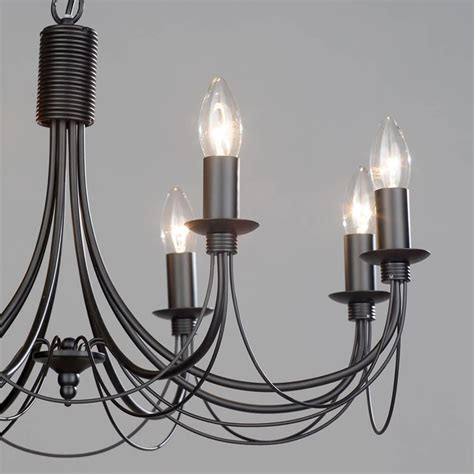 8 light chandelier somerset chandelier 8 light black from litecraft