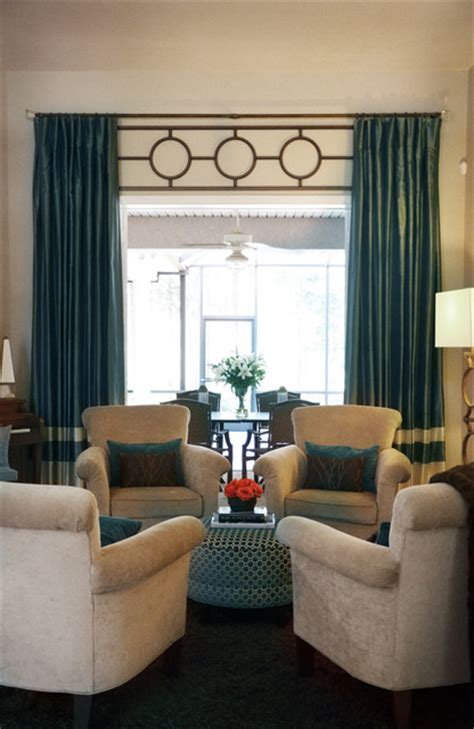 luxe contemporary living room  teal
