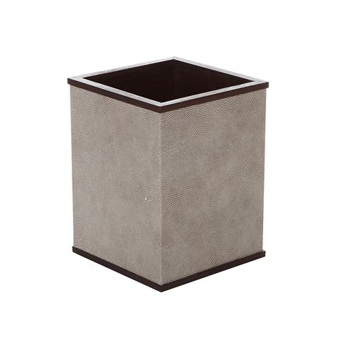 waste paper bins buy alexander james wenge smoke shagreen waste paper bin
