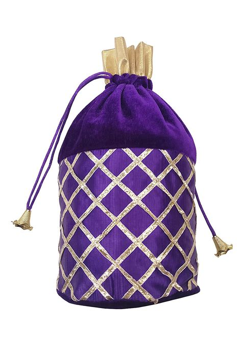 embroidered velvet polti bag  purple daf