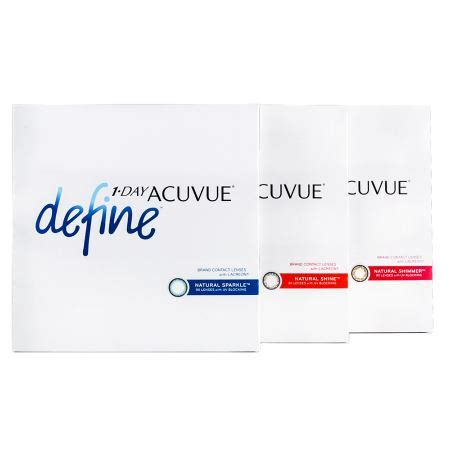 define day 1 day acuvue define 90 pack contact lenses by johnson