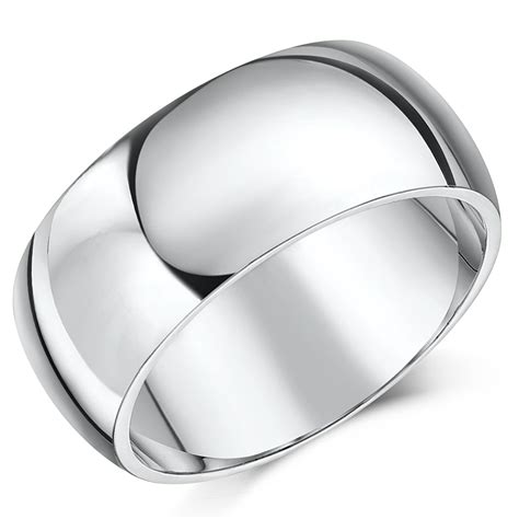 9mm platinum heavy court shaped wedding ring band 9mm at