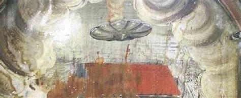 imagenes antiguas ovnis descubren un ovni en una antigua pintura en rumania