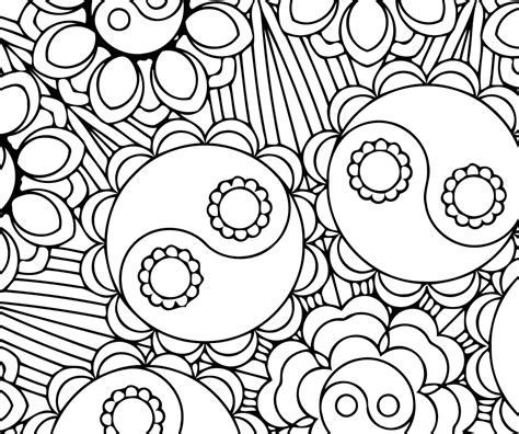 yin yang coloring book pages 84 printable coloring pages yin yang coloring for