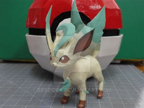 Leafeon Papercraft - leafeon papercraft by brspidey on deviantart