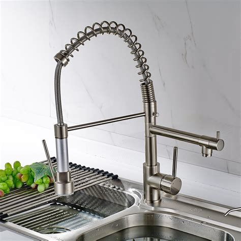 solid brass kitchen faucet solid brass kitchen faucet polished nickel finish