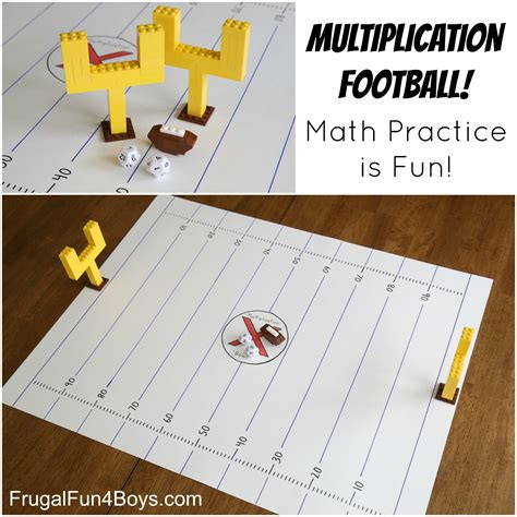 4 Interesting To Check by Multiplication Football Make Math Fact Practice