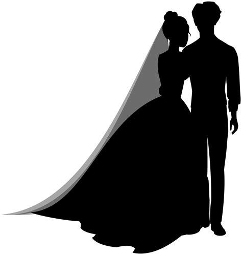 Wedding Silhouette by Wedding Silhouette Clip Wedding Dress Clipart