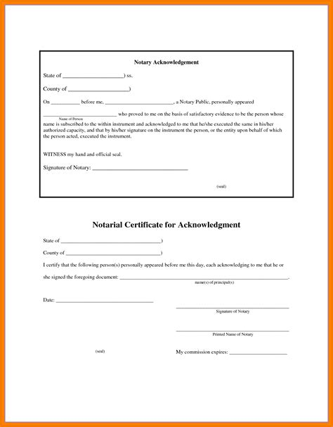 Notary Template 6 sle notary form postal carrier