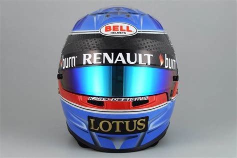 Kaos Lotus F1 Team racing helmets garage bell hp7 n prost 2013 by kaos design