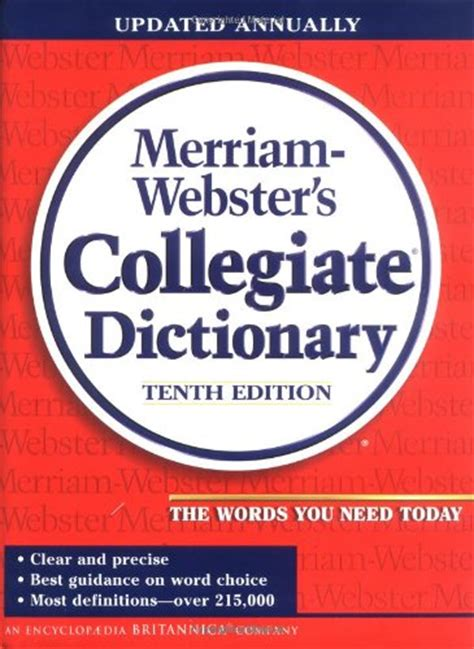 the elements of style 4th edition books merriam webster s collegiate dictionary 081413007091