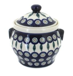 Large Mosaic Canister blue pottery mosaic flower large canister