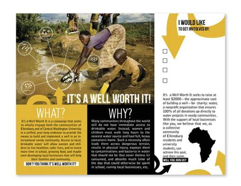 Best 25 Charity Ideas On charity water brochure renanlopes me