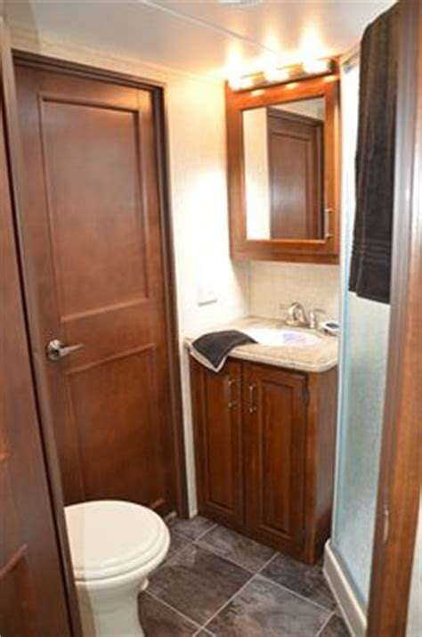 small rv with bathroom rv interiors on pinterest rv interior fifth wheel and