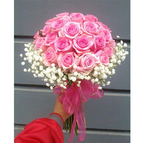 Bunga Buket Mawar Bunga Handbouquet 2 hbd 03 buket bunga mawar pink baby breath florist bandung murah