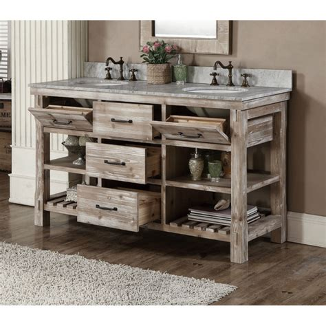 rustic sink vanity accos 60 inch rustic sink bathroom vanity marble top