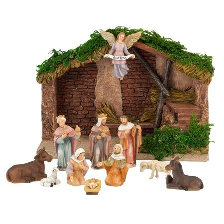 christmas stable walmart nativity walmart