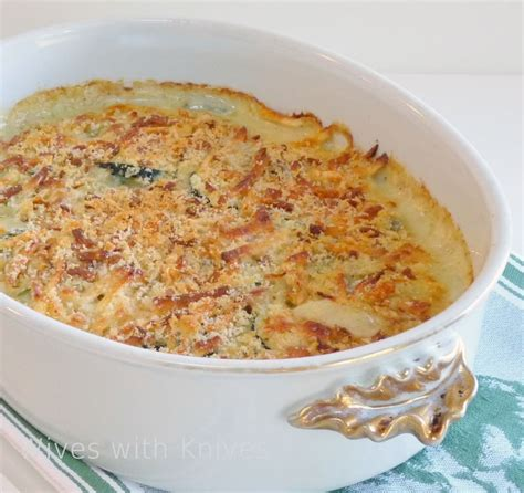 ina garten breakfast ina s zucchini gratin wives with knives