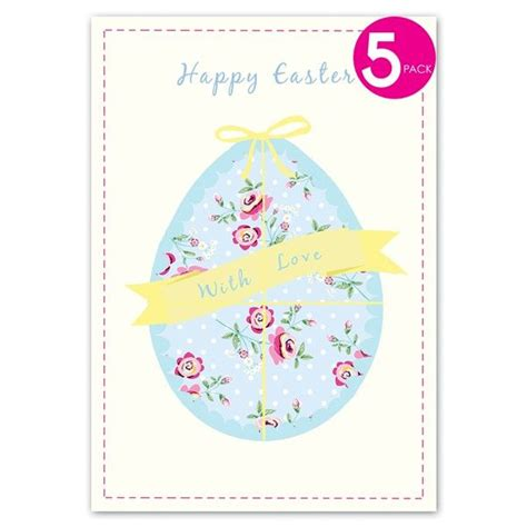Come With Me Easter Invites by Pack Of Five Easter Egg Easter Cards Karenza Paperie