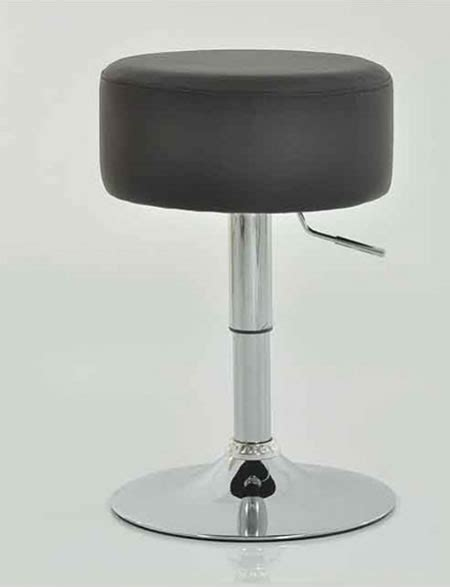 Padded Kitchen Stools by Low Bar Kitchen Stool Brown Padded Seat Height Adjustable
