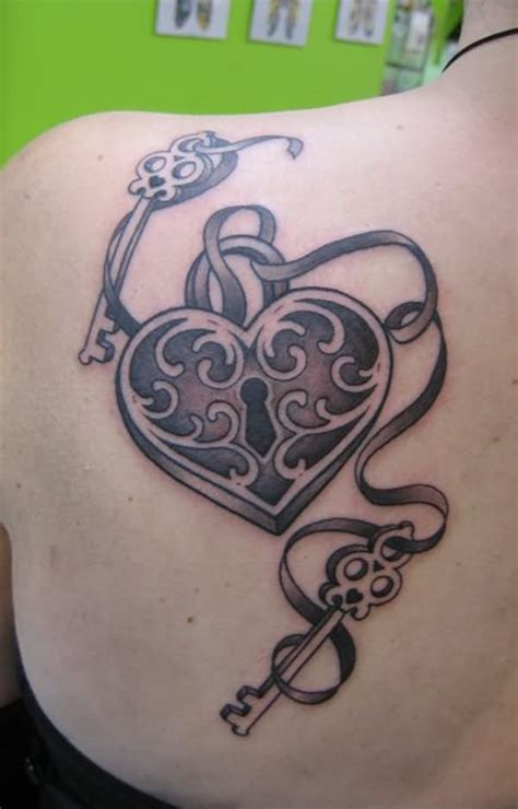 heart lock and key tattoos 7 lock and key designs and ideas