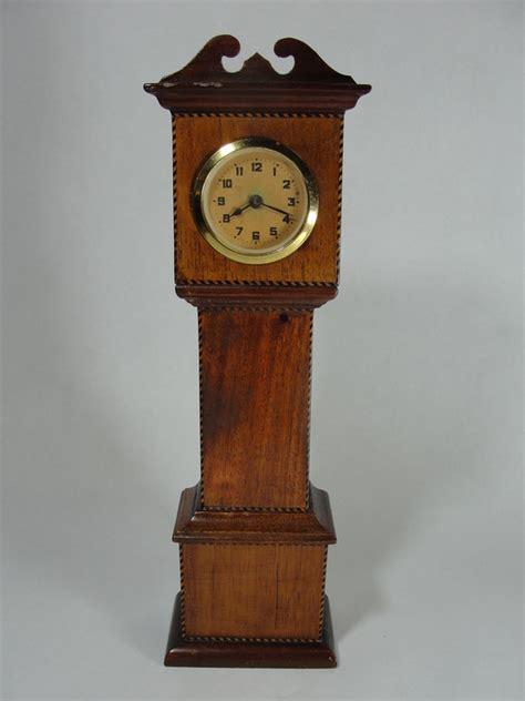 Handcrafted Grandfather Clocks - antique handmade folk miniature mahogany