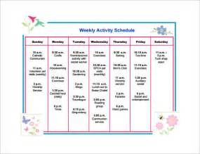 daily activity schedule template activity schedule template 8 free word excel pdf