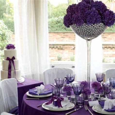 simple tall purple wedding centerpiece ideas ipunya