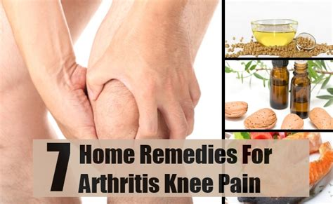 top 7 home remedies for arthritis knee