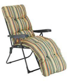 Outdoor Relaxer Chair Buy Multi Position Sun Lounger With Cushion Striped At