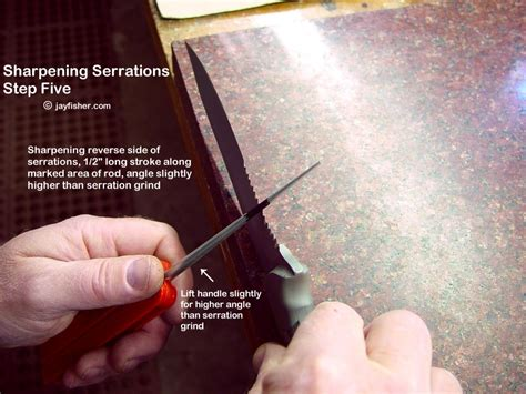 how to sharpen serrations serrations on handmade custom knives by fisher