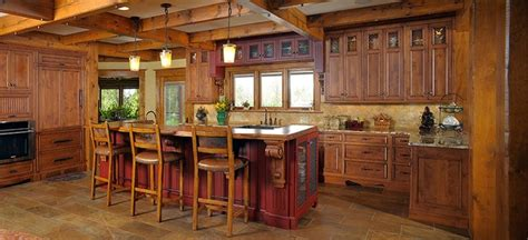 rustic log home rustic kitchen other by mullet cabinet