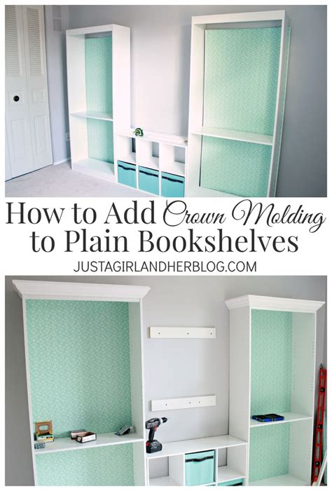 how to add crown molding to the top of your cabinets diy crafts ideas how to add crown molding to bookshelves