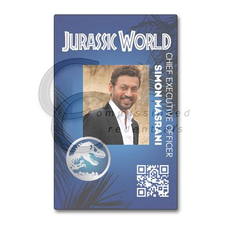 jurassic world id card template jurassic world commissioned credentials