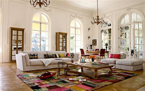 large living room decor with big white sofa motiq
