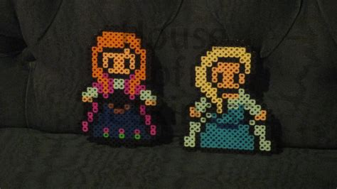 perler bead time lapse elsa in perler house of geekiness